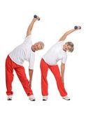 Elderly couple Exercising — Stock Photo