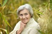 Senior woman in park — Stock Photo
