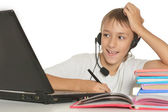 Teenager mit laptop — Stockfoto