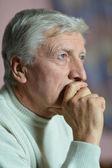 Senior man thinking about something — Stock Photo
