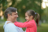 Father with daughter in nature — Stock Photo