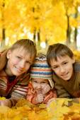 Boys and a girl — Stock Photo