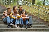 Семья, в парке — Стоковое фото