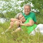 Elderly couple in nature — Stock Photo #59853037