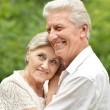 Mature couple in the park — Stock Photo #59853287