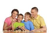 幸せな家族を再生 — ストック写真