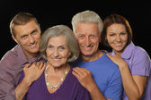 Family portrait with senior parents — Stockfoto