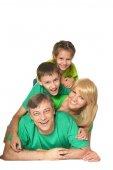 Cute happy family — Stock Photo