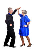 Elegant elderly couple dancing — Foto de Stock