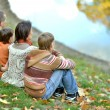 Family in autumn park — Stock Photo #62957515