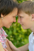 Smiling mother and son — Stock Photo