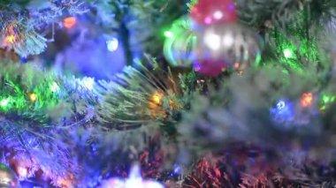 Kerstmis en Nieuwjaar decoratie — Stockvideo
