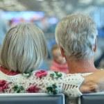 Elderly couple backside — Stock Photo #65064269