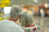 Elderly couple backside — Stock Photo