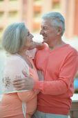 Mature couple on vacation — Stock Photo