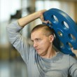 Fit man exercising at gym — Stock Photo #65080235