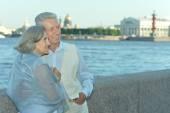 Senior couple on vacation — Stock Photo