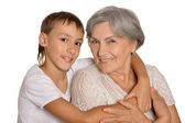 Young boy and his grandmother — Stock Photo