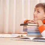Nice boy does homework — Stock Photo #68924029