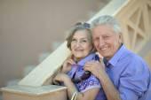 Amusing old couple — Stock Photo