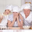 Family cooking together — Stock Photo #70241843