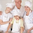 Happy family cooking together — Stock Photo #70242155