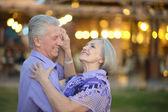 Starszy para na wakacje — Zdjęcie stockowe