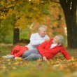 Couple having fun in park — Stock Photo #70973927