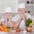 Happy family cooking together — Stock Photo #71478879