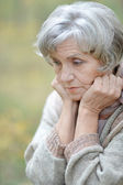 Nice sad old woman — Stock Photo