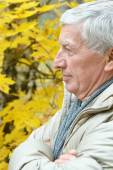 Senior man thinking — Stock Photo