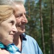 Elderly couple in summer park — Stock Photo #72555553