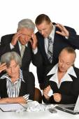 Business people at work — Stock Photo