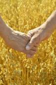 Älteres Ehepaar Händchen — Stockfoto
