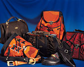 Bags, belts, shoes — Stock Photo