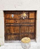 Basque door — Stock Photo