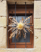 Eguzkilore and window — Stock Photo