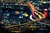 Portland Freeway at Night — Stock Photo