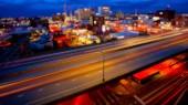 Spokane, Washington and Freeway at Night — Stock Photo