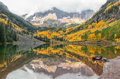 Maroon bells aspen Colorado in Fall — Stock Photo