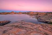 Sunset at Willow Lake Prescott Arizona — Foto de Stock