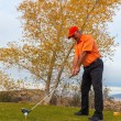Hitting the Links in Fall — Stock Photo #58448287