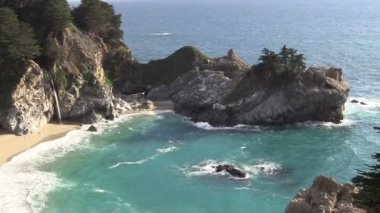 Mc Way Falls Big Sur California — Stock Video
