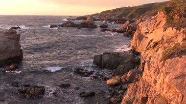 Big Sur California Coastline Sunset — Stock Video