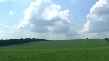 Rural landscape with  clouds. PAL Time lapse — Stock Video