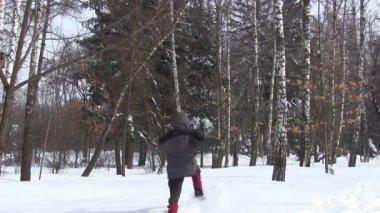 Run on deep snow.PAL — Stock Video