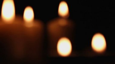 Romantic fires of a candle — Stock Video