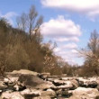Beautiful  time lapse in  mountain canyon with  river. Landscape. — Stock Video #64739281