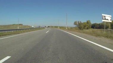 Highway in  sunny day.  POV FPV clip — Stock Video