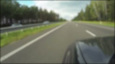 Car on the highway. POV  blurred clip, time lapse — Wideo stockowe